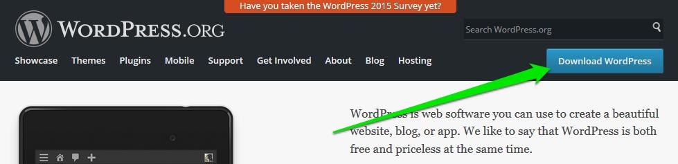 Preuzeti WordPress CMS softver za instalaciju