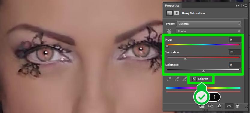 Promena boje ociju u Photoshopu slika 16