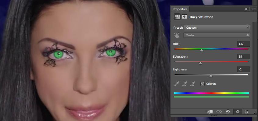 Promena boje ociju u Photoshopu slika 23