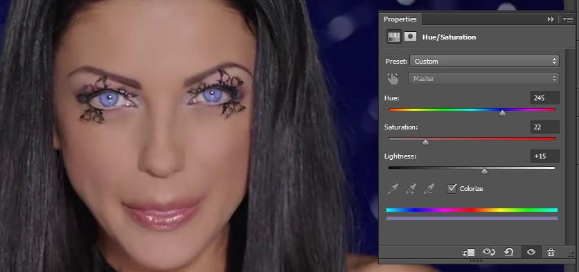 Promena boje ociju u Photoshopu slika 24