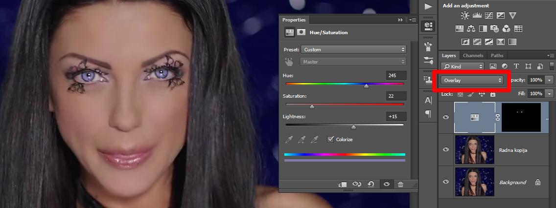 Promena boje ociju u Photoshopu slika 26
