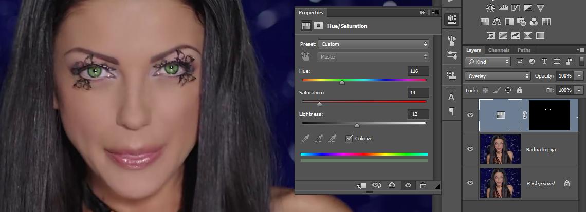 Promena boje ociju u Photoshopu slika 27