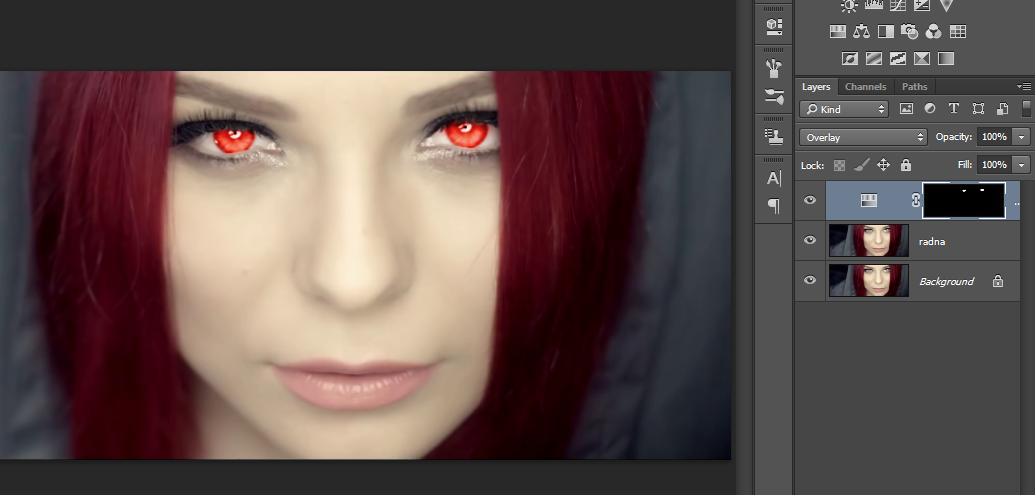 Promena boje ociju u Photoshopu slika 28