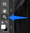 Promena boje ociju u Photoshopu slika 3 zoom tool
