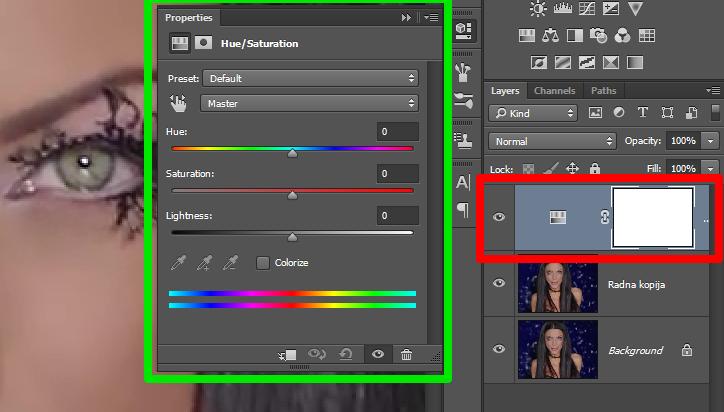 Promena boje ociju u Photoshopu slika 8