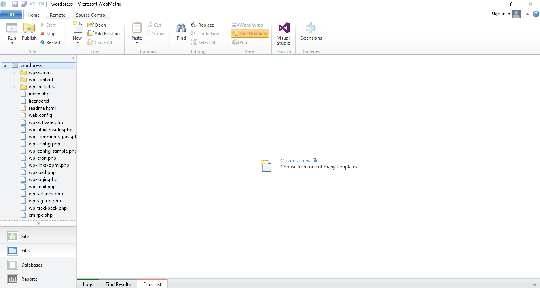 Wordpress on Windows Microsoft WebMatrix