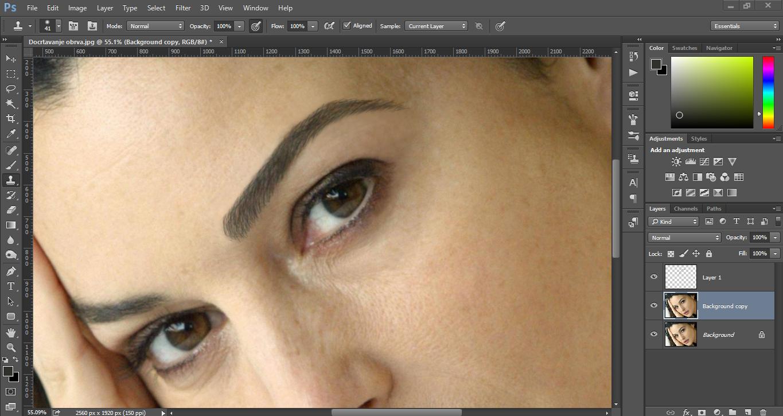 Crtanje obrva u Photoshopu slika 9