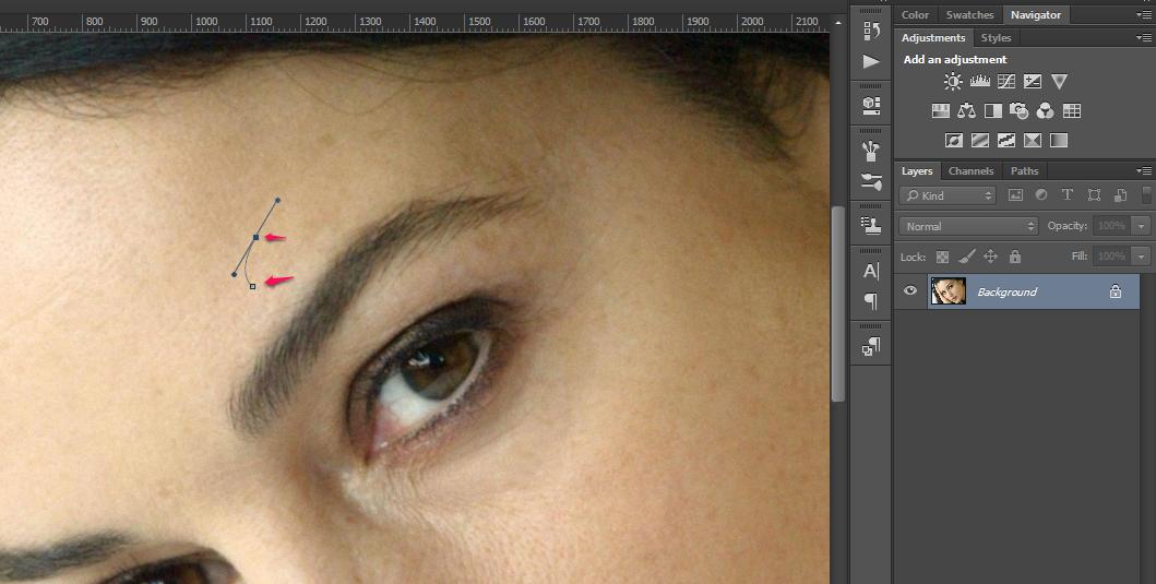 Obrve u Photoshop slika 1