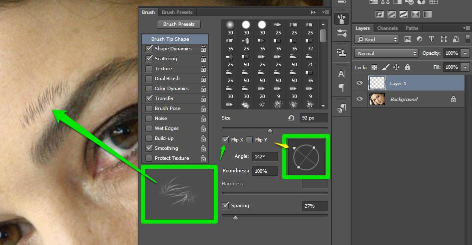 Obrve u Photoshop slika 29