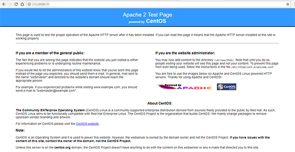 apache test wordpress on centos
